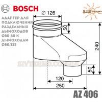 Вертикальний адаптер Bosch AZ 406, діаметр 80_80 мм