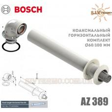 Коаксиальный горизонтальный комплект Bosch AZ 389, диаметр 60_100 мм