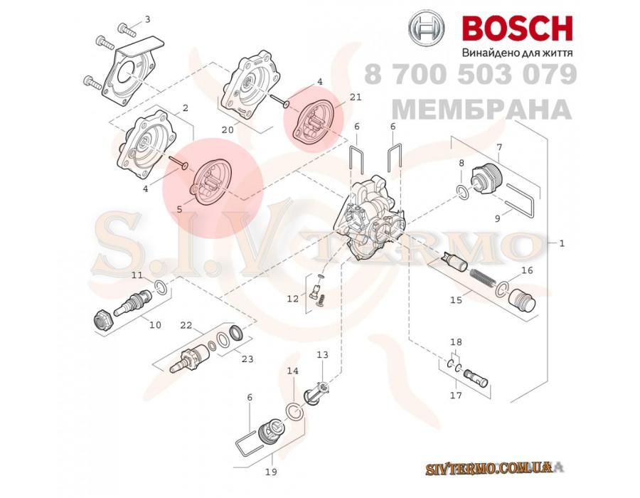 Bosch  003652  Мембрана Bosch 8 700 503 079 Junkers для газовых колонок  Интернет - Магазин SIVTERMO.COM.UA все права защищены. Использование материалов сайта возможно только со ссылкой на источник.    Запасные части BOSCH