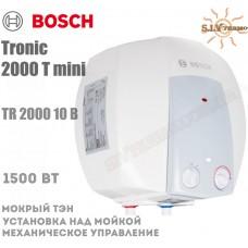Водонагреватель Bosch Tronic 2000 mini TR 2000 10 B над мойкой