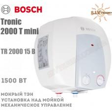 Водонагреватель Bosch Tronic 2000 mini TR 2000 15 B над мойкой