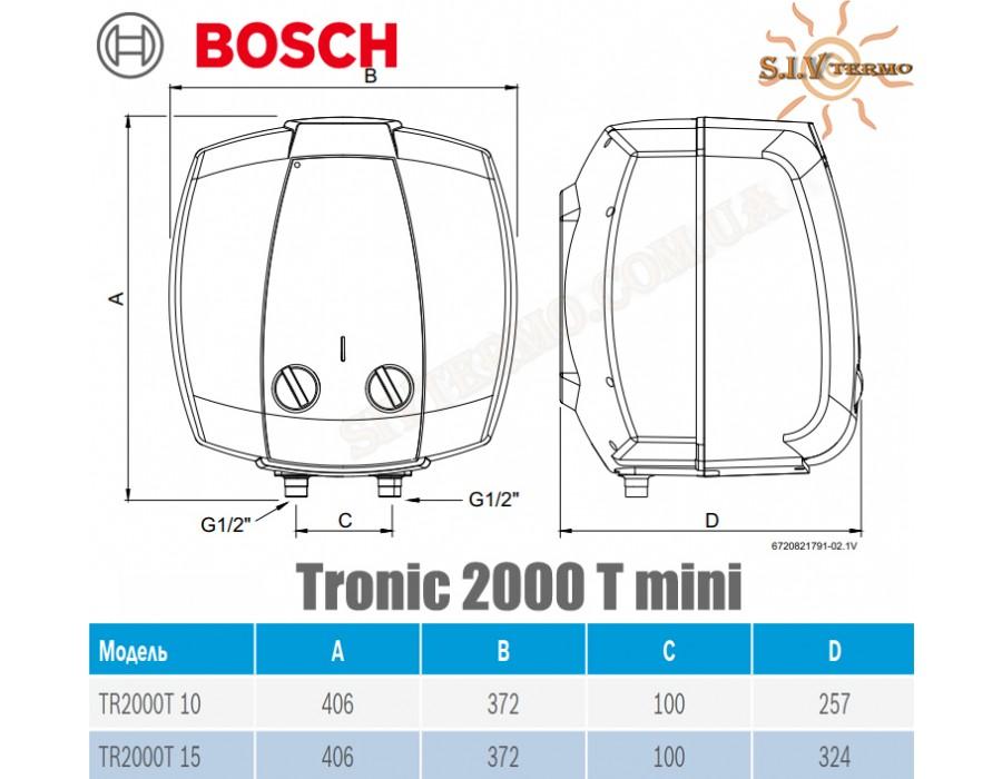 Bosch  001885  Водонагреватель Bosch Tronic 2000 mini TR 2000 15 T под мойкой  Интернет - Магазин SIVTERMO.COM.UA все права защищены. Использование материалов сайта возможно только со ссылкой на источник.    Bosch Tronic