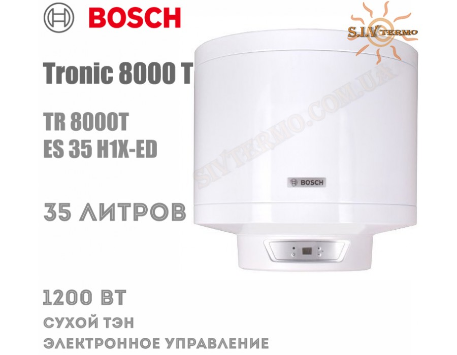 Bosch  001897  Водонагреватель Bosch Tronic 8000 Т TR 8000T ES 35 H1X-ED  Интернет - Магазин SIVTERMO.COM.UA все права защищены. Использование материалов сайта возможно только со ссылкой на источник.    Bosch Tronic