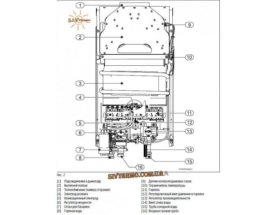 Bosch  000186  Газовая колонка BOSCH Therm 2000 O W 10 KB (розжиг от батареек)  Интернет - Магазин SIVTERMO.COM.UA все права защищены. Использование материалов сайта возможно только со ссылкой на источник.    Bosch