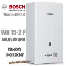 Газова колонка BOSCH Therm 4000 O WR 15-2 P (п'єзорозпал)