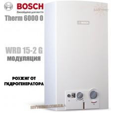 Газова колонка BOSCH Therm 6000 O WRD 15-2 G (розпал від турбіни, HydroPower)