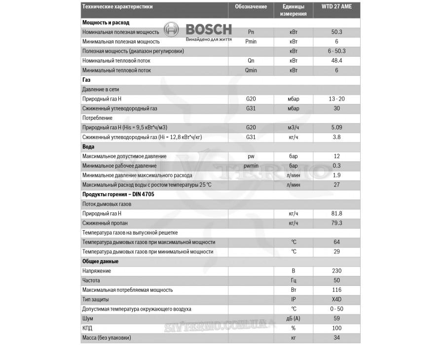 Bosch  10066  Газовая колонка BOSCH Therm 8000 S WTD 27 AME (конденсационная)    Интернет - Магазин SIVTERMO.COM.UA все права защищены. Использование материалов сайта возможно только со ссылкой на источник.    Bosch