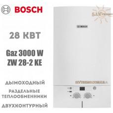 Газовый котел Bosch Gaz 3000 W ZW 28-2 KE двухконтурный, дымоходный