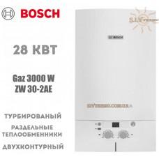 Газовый котел Bosch Gaz 3000 W ZW 30-2 AE двухконтурный, турбированный