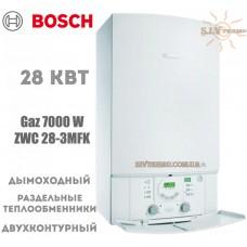 Газовый котел Bosch GAZ 7000 ZWC 28-3MFK двухконтурный, дымоходный