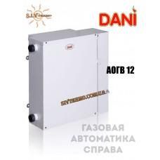 Котел парапетний Dani АОГВ -12 газова автоматика зправа, одноконтурний