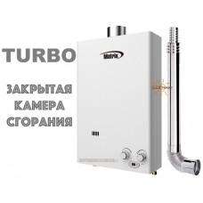 Газова турбована колонка MATRIX JSG20 ТУРБО (10 літрів) White