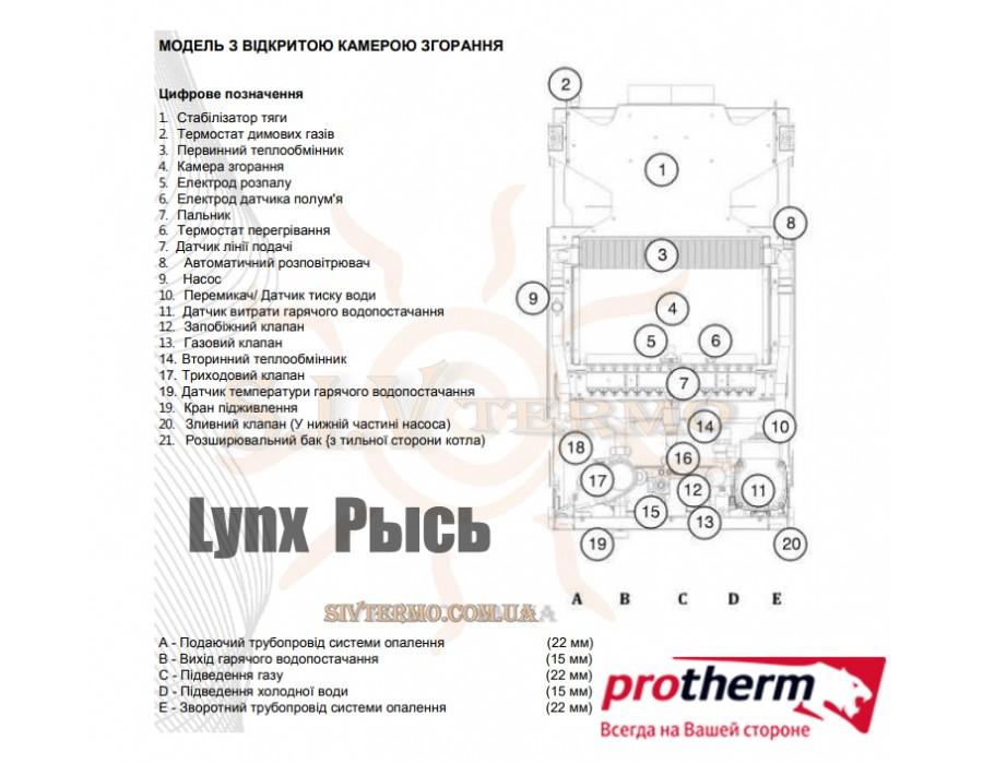 Protherm  000693  Газовый котел Protherm Lynx 24 ВА (Рысь) 24 кВт дымоходный   Интернет - Магазин SIVTERMO.COM.UA все права защищены. Использование материалов сайта возможно только со ссылкой на источник.    Protherm
