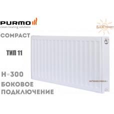 Радиатор стальной Purmo Compact C11 300x600 боковое подключение