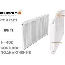 Радиатор стальной Purmo Compact C11 400x600 боковое подключение