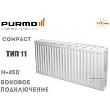Радиатор стальной Purmo Compact C11 450x600 боковое подключение