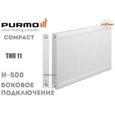 Радиатор стальной Purmo Compact C11 500x600 боковое подключение