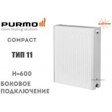 Радиатор стальной Purmo Compact C11 600x600 боковое подключение
