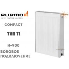 Радиатор стальной Purmo Compact C11 900x600 боковое подключение