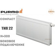 Радиатор стальной Purmo Compact C22 300x400 боковое подключение