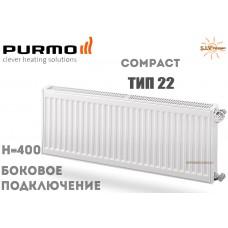 Радиатор стальной Purmo Compact C22 400x400 боковое подключение