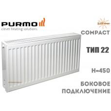 Радиатор стальной Purmo Compact C22 450x400 боковое подключение