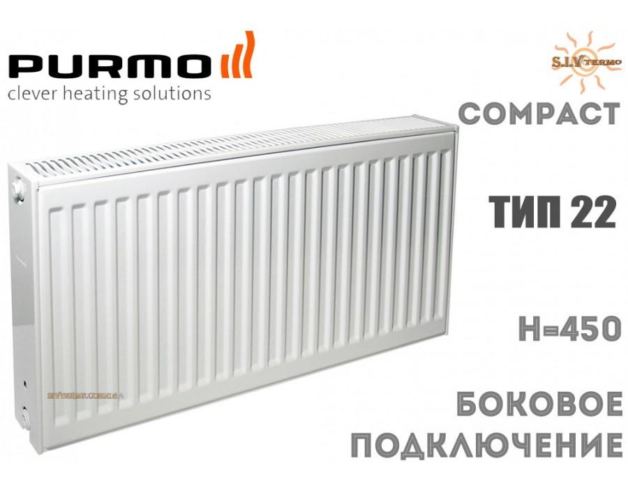 Purmo   004108  Радиатор стальной Purmo Compact C22 450x800 боковое подключение  Интернет - Магазин SIVTERMO.COM.UA все права защищены. Использование материалов сайта возможно только со ссылкой на источник.    Радиаторы PURMO