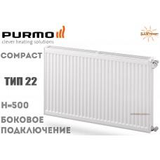 Радиатор стальной Purmo Compact C22 500x900 боковое подключение