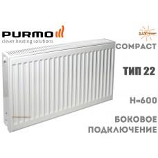 Радиатор стальной Purmo Compact C22 600x400 боковое подключение