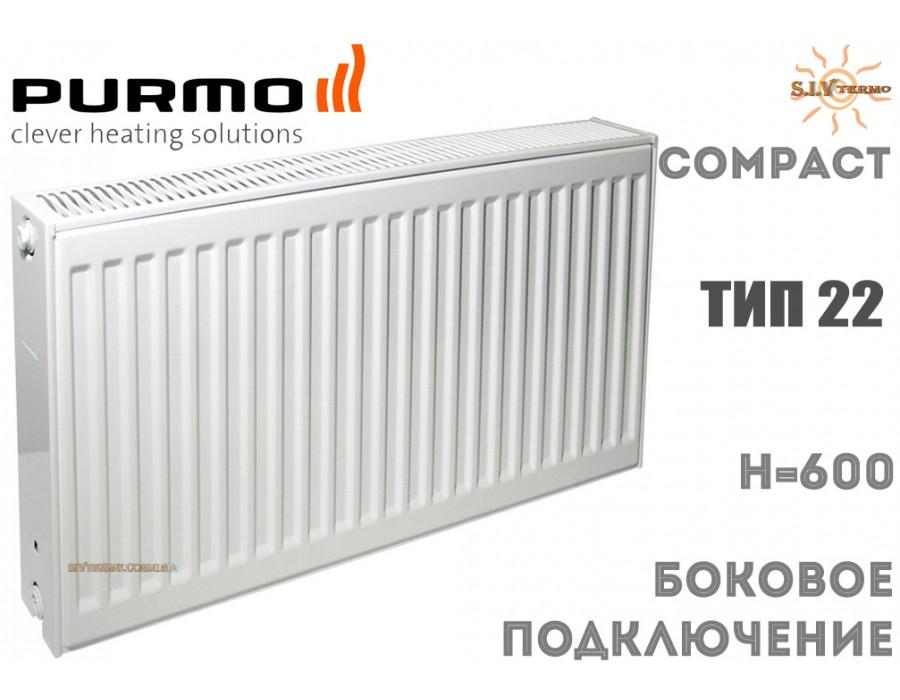 Purmo   004125  Радиатор стальной Purmo Compact C22 600x900 боковое подключение  Интернет - Магазин SIVTERMO.COM.UA все права защищены. Использование материалов сайта возможно только со ссылкой на источник.    Радиаторы PURMO
