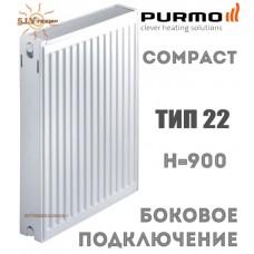 Радиатор стальной Purmo Compact C22 900x400 боковое подключение
