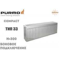 Радиатор стальной Purmo Compact C33 300x400 боковое подключение