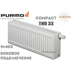 Радиатор стальной Purmo Compact C33 400x400 боковое подключение