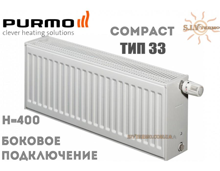 Purmo   004252  Радиатор стальной Purmo Compact C33 400x400 боковое подключение  Интернет - Магазин SIVTERMO.COM.UA все права защищены. Использование материалов сайта возможно только со ссылкой на источник.    Радиаторы PURMO