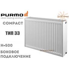 Радиатор стальной Purmo Compact C33 500x400 боковое подключение