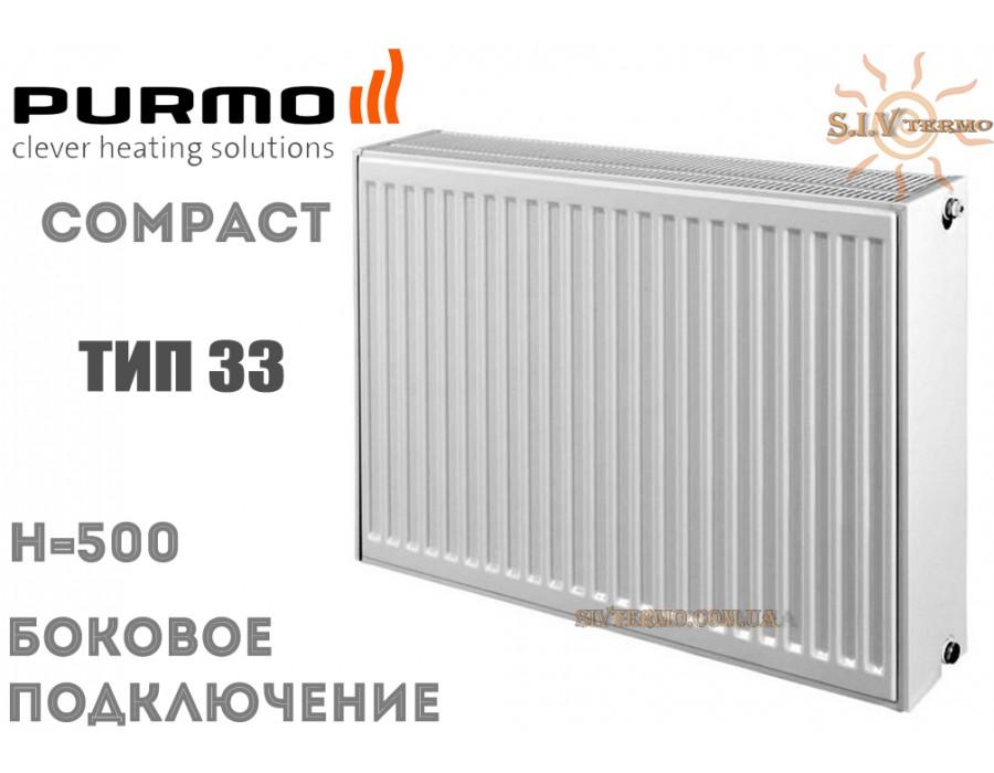 Purmo   004288  Радиатор стальной Purmo Compact C33 500x800 боковое подключение  Интернет - Магазин SIVTERMO.COM.UA все права защищены. Использование материалов сайта возможно только со ссылкой на источник.    Радиаторы PURMO