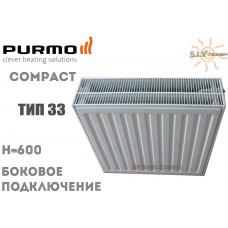 Радиатор стальной Purmo Compact C33 600x400 боковое подключение