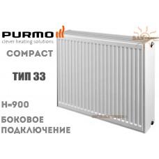 Радиатор стальной Purmo Compact C33 900x400 боковое подключение