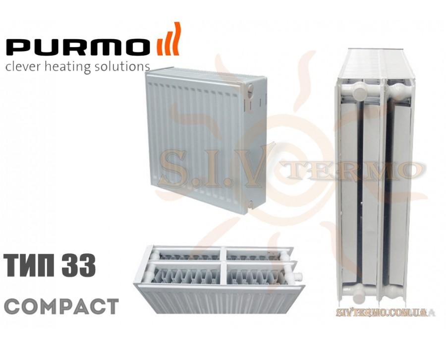 Purmo   004273  Радиатор стальной Purmo Compact C33 450x900 боковое подключение  Интернет - Магазин SIVTERMO.COM.UA все права защищены. Использование материалов сайта возможно только со ссылкой на источник.    Радиаторы PURMO