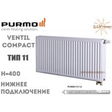 Радиатор Purmo Ventil Compact CV11 400x400 нижнее подключение