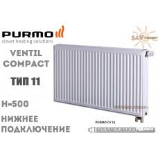 Радиатор Purmo Ventil Compact CV11 500x600 нижнее подключение