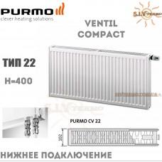 Радиатор Purmo Ventil Compact CV22 400x600 нижнее подключение