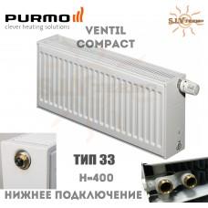 Радиатор Purmo Ventil Compact CV33 400x600 нижнее подключение