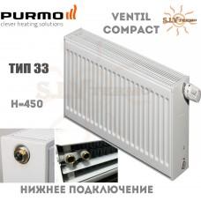 Радиатор Purmo Ventil Compact CV33 450x600 нижнее подключение