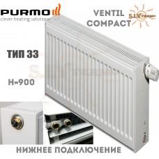 Радиатор Purmo Ventil Compact CV33 900x600 нижнее подключение