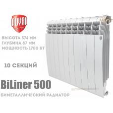 Радиатор Royal Thermo BiLiner 500 Bianco Traffico 10 секций (белый)