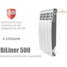 Радиатор Royal Thermo BiLiner 500 Bianco Traffico 4 секции (белый)