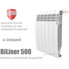 Радиатор Royal Thermo BiLiner 500 Bianco Traffico 6 секций (белый)