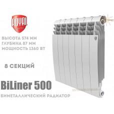 Радиатор Royal Thermo BiLiner 500 Bianco Traffico 8 секций (белый)