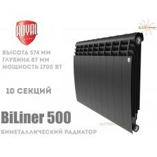 Радиатор Royal Thermo BiLiner 500 Noir Sable 10 секций (черный)